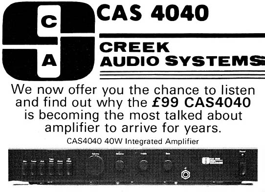 Creek Audio - Halcyon Days - 4040 amplifier release